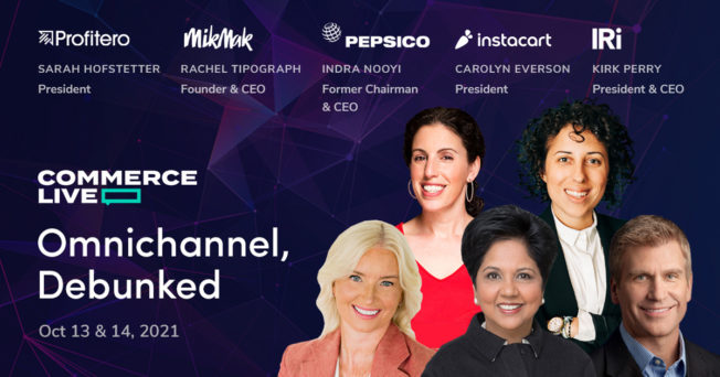 Commerce Live's conference began with former PepsiCo CEO Indra Nooyi