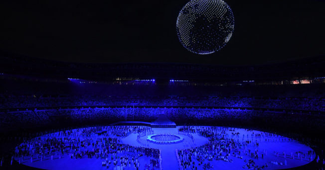 Photo of an Olympic ceremony.
