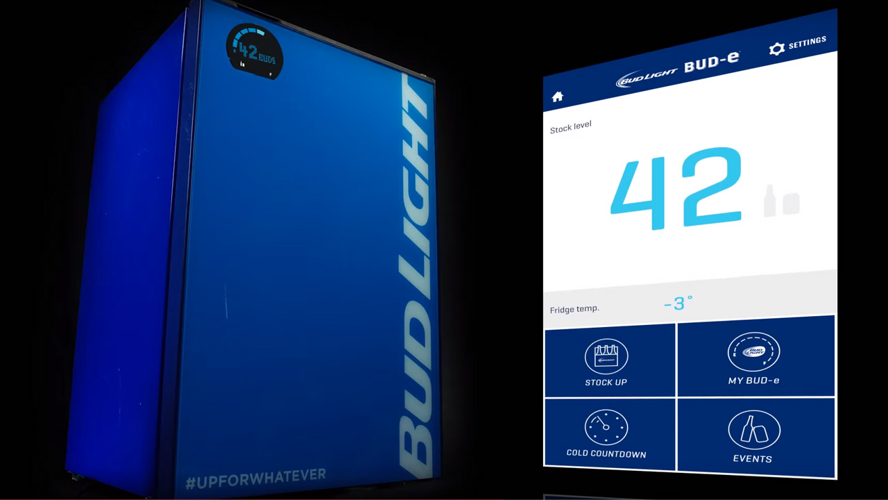 Bud Light Created a Smart Fridge That Tells You When You're
