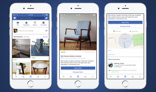 Facebook Launches Marketplace To Let Users Buy And Sell Items