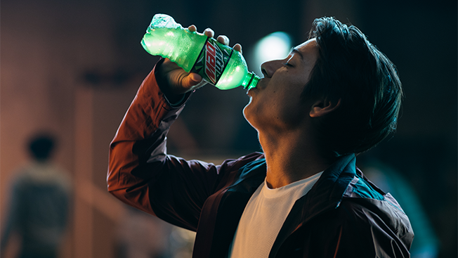 mountain dew celebrates the exhilarating feeling of doing in a new