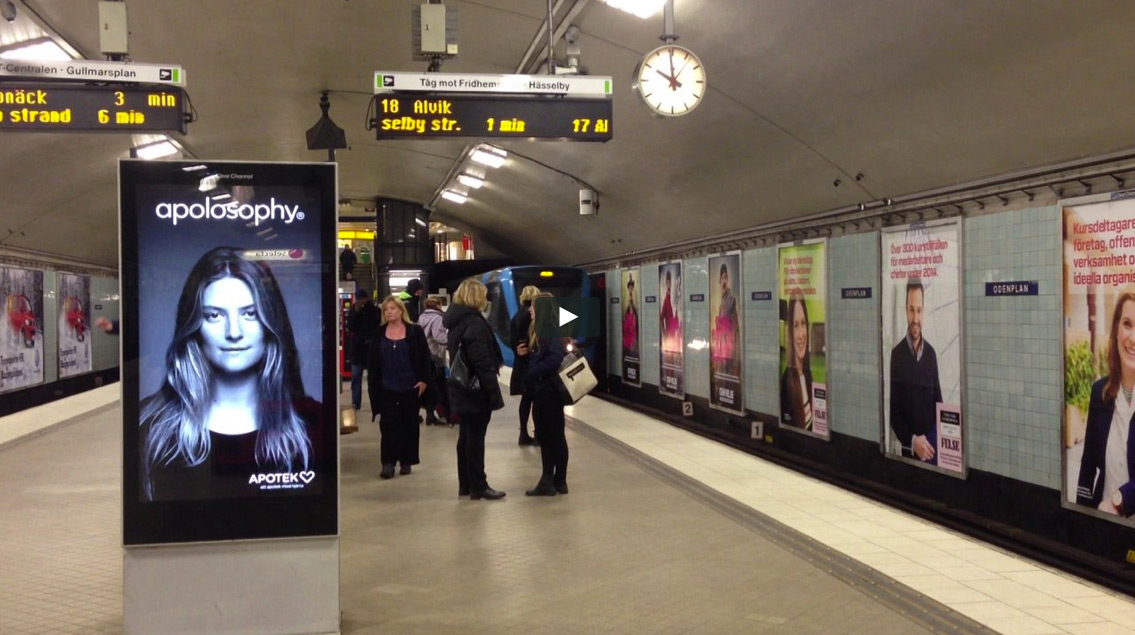 Wonderful Subway Ad Shows A Woman S Hair Blowing Around