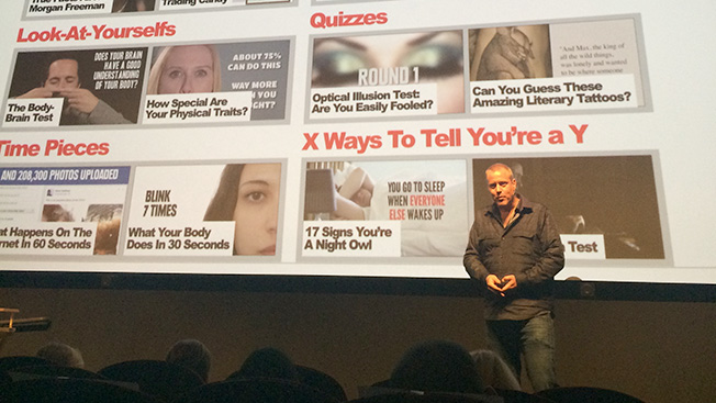 Ze Frank at the Buzzfeed NewFront on April 28, 2014 in New York.