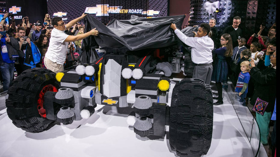 Chevrolet Unveils a Life-Size Lego Batmobile, and a Self