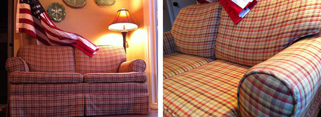 Wonderful Ad For Ugly Loveseat Insists It S Not An But A Piece. Cool Armchairs  Country Sofas And Loveseats Plaid Sofa
