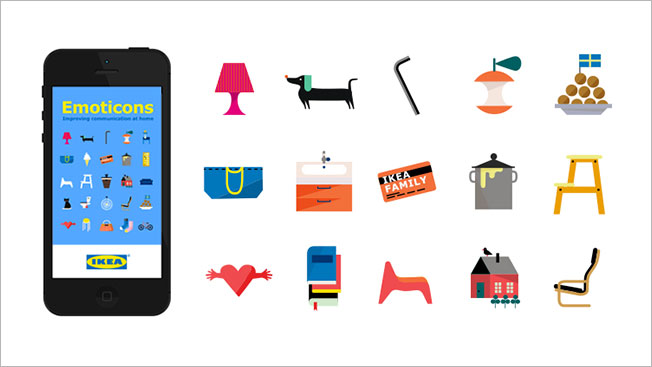 Ikea Develops Its Own Emojis, for When You Need to Text