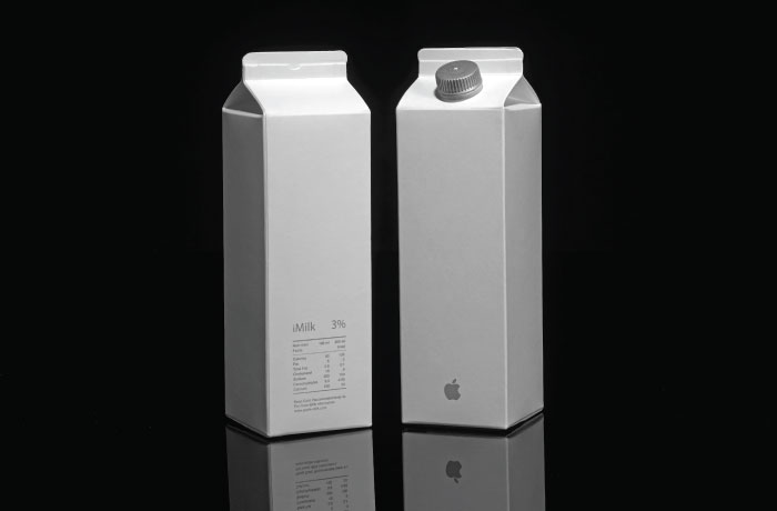 if apple made milk and other super cool imaginary product packaging