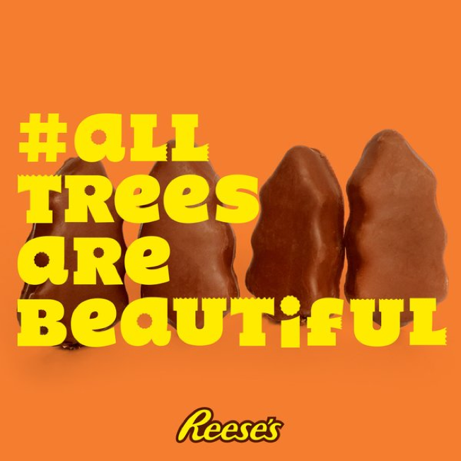 Reeses Christmas Tree Commercial 2020 Reese's Turned Gripes About Its Ugly Christmas Candy Into Funny