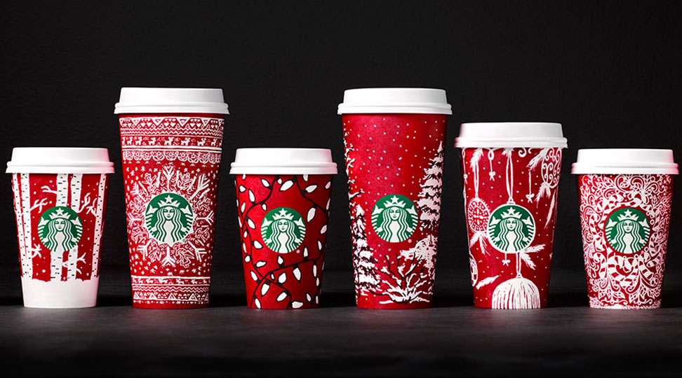 starbucks red christmas cups for 2016 probably won t offend anybody