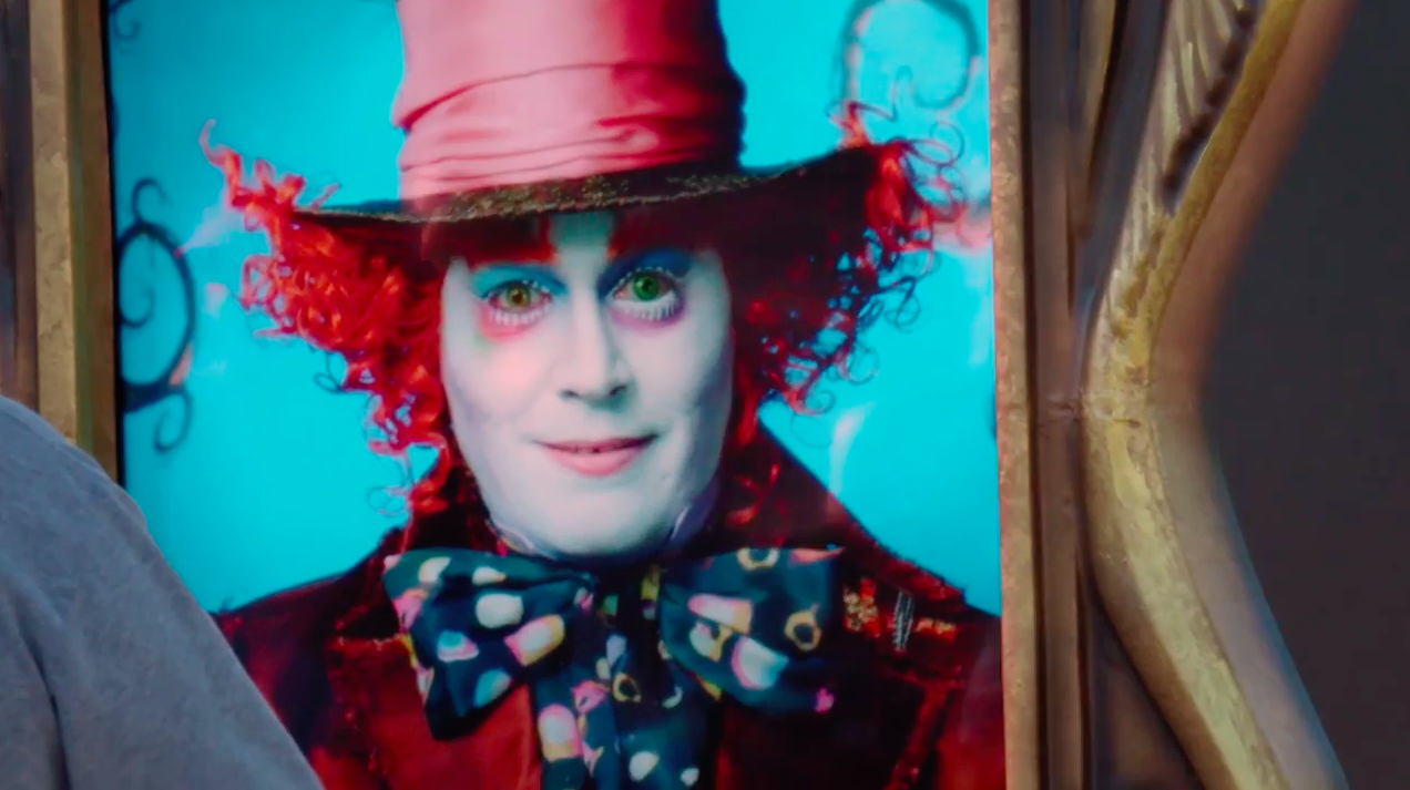 Johnny Depp Delights Disneyland Goers as the Mad Hatter on This Magical Live Billboard