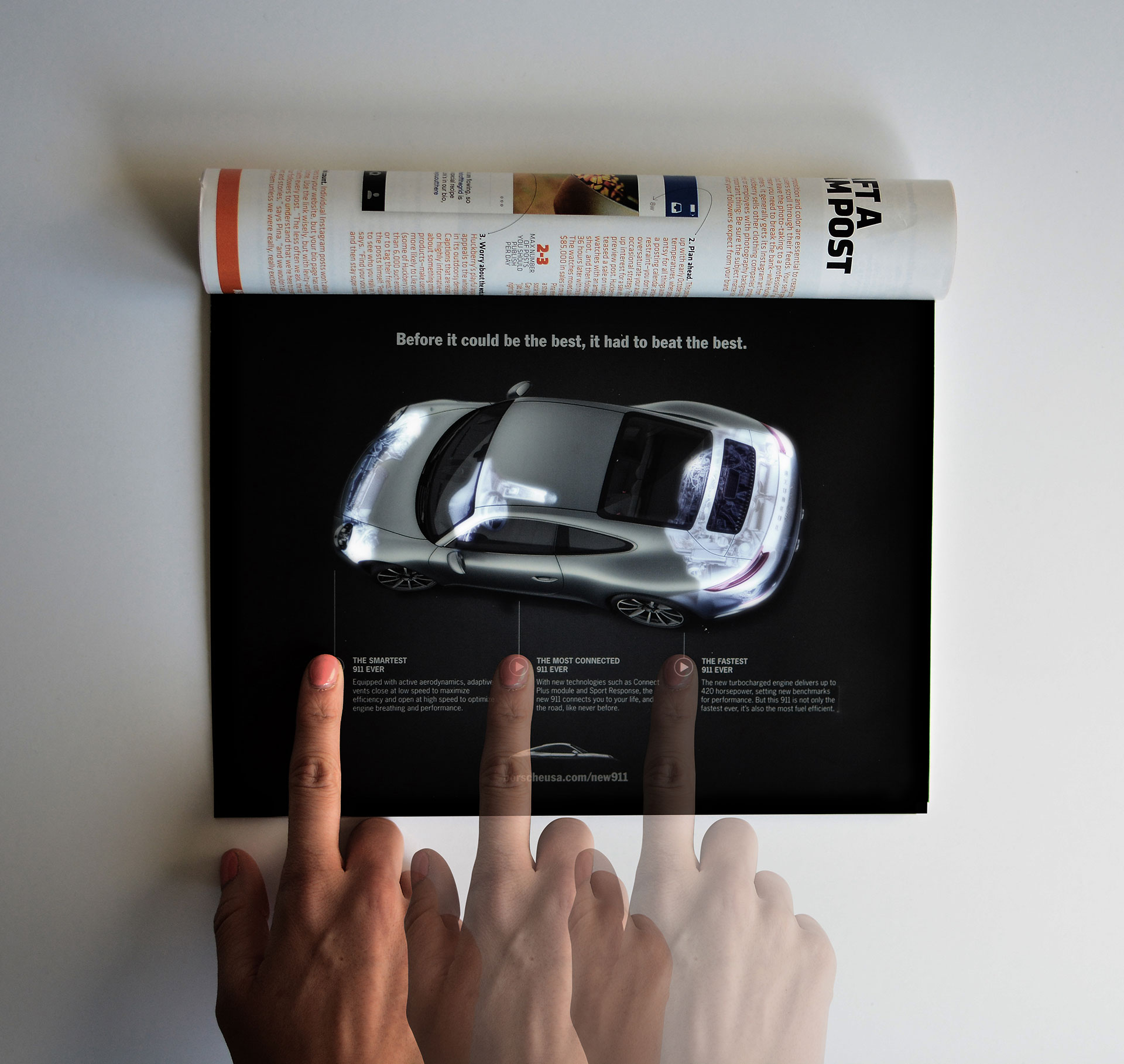 Ad Of The Day This Porsche Magazine Ad Uses Leds To Light Up The