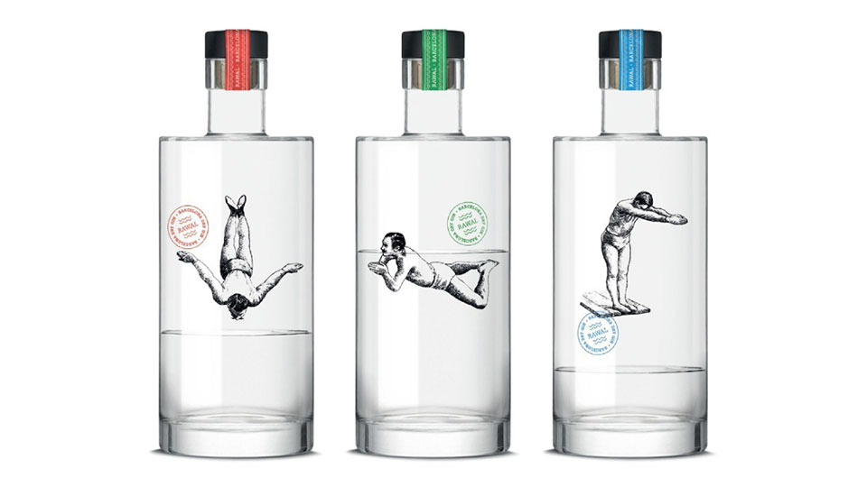 Cocktail Bar's Gin-Bottle Swimmers Honored as the Year's Best Package Design