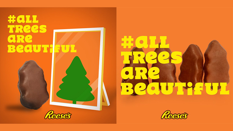 Reese's Turned Gripes About Its Ugly Christmas Candy Into Funny