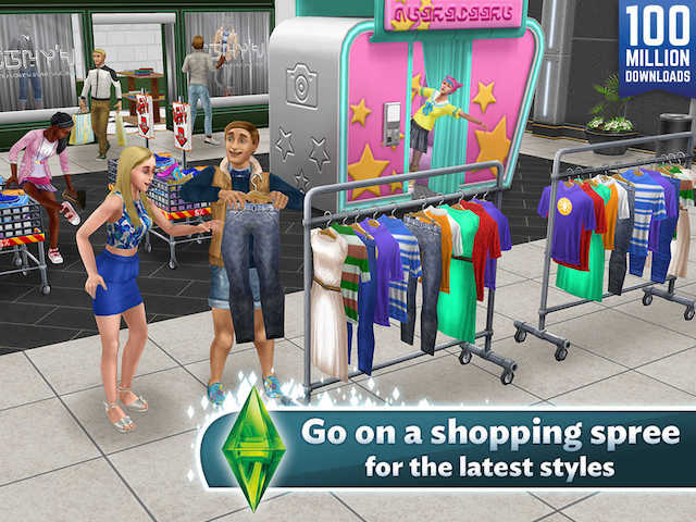 The Sims Freeplay Updated With Sunset Mall Expansion New Clothing