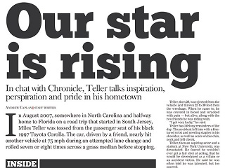 Newspaper Celebrates the Success of 'Our Star' Miles Teller
